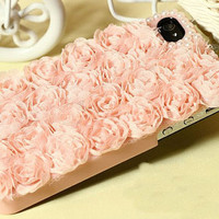 iphone 5 case, iphone 4 cover iphone 4 case iphone 4s case - rose lace iphone 4s case