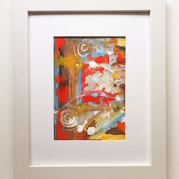 022 Original Abstract  Art on Paper. Free-shipping within USA.