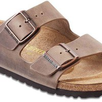 DCCK Birkenstock Women's Arizona Sandal Tobacco Oiled Leather Size 40 N EU