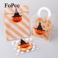 DIY Stickers Top Quality 60Pcs HandMade Halloween Pumpkin Shape Seal Sticker Baking Package Paper Tags Labels Stationery Post It