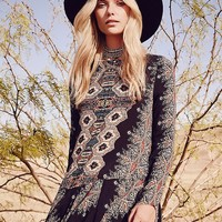 Free People Smooth Talker Printed Tunic