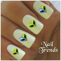 Aliens Nail Decal 20 Vinyl Stickers Nail Art