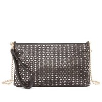 Metallic-Lined Laser-Cut Cross-Body Bag by Charlotte Russe
