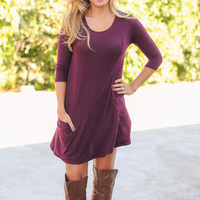 Made in Manhattan Dress - Burgundy