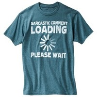 Sarcastic Comment Men's Graphic Tee - Baltic Teal Heather
