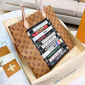 LV Louis Vuitton New Women Shopping Bag Leather Handbag Tote Shoulder Bag Satchel