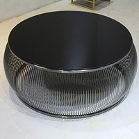 Black Wide Bars Fashion Coffee Table For Home Furniture