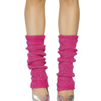 Pink and Silver Sparkle Leg Warmer