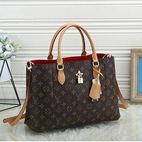 Louis Vuitton LV Fashion Women Monogram Check Leather Shopping Shoulder Bag Handbag