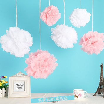 """5""""8"""" 10"""" Tissue Paper Pompoms Mix Color Party Decoration Baby Shower Wedding Decoration Event & Party Supplies Birthday"""