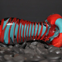 Extra Thick Flat Mouthpiece Twisty Glass Pipe