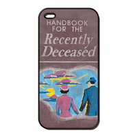 Beetlejuice Handbook for the recently deceased iphone 4 case, iphone 5 case, iphone hard case, ipod touch 4g, itouch 5 (20093)