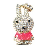 16GB Cute Bunny Rabbit Jewellery Jewelry USB Flash Pen Drive Disk Memory with Simulated DIAMOND Crystals -Ideal Great Gift (16GB PINK): Amazon.co.uk: Computers & Accessories