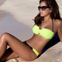 Hot Sexy Summer Swimsuit Beach New Arrival Stylish Patchwork Swimwear Bikini [7767321031]