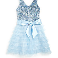 Girl's Sequin Tulle Party Dress