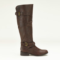Made For Walking Knee High Boots In Dark Brown