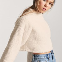 Fuzzy Knit Mock Neck Sweater