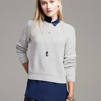 Banana Republic Womens Back Cutout Cropped Pullover