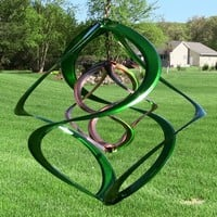 "Colored 14"" Double Wind Spinners - 4 Colors"