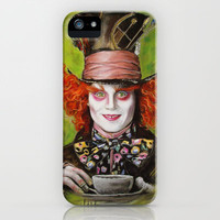 Mad Hatter iPhone & iPod Case by Melanie D