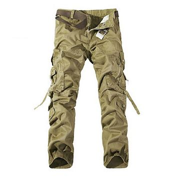 Hot Sale Loose Cargo Pants Jogger Pants pantalones hombre Trousers Outwear Military Pants Men Cotton Multi-pocket