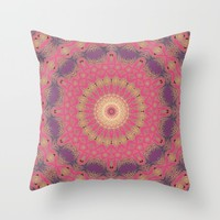 Magenta Sunset Throw Pillow by ALLY COXON