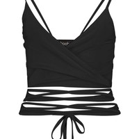 Ava Wrap Over Strappy Slinky Bralet