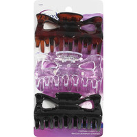 Walmart: Goody Cynthia Claw Clips, Assorted Colors, 3 count