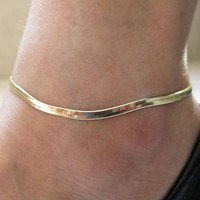 Fashion New  Accessories Jewelry gold chain anklet, Herringbone adjustable charm anklet,ankle leg bracelet Accessories