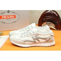 prada men fashion boots fashionable casual leather breathable sneakers running shoes 98