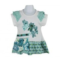 Naartjie Kids   Baby Girl Clothes   Naartjie Baby Girl Clothes   Embroidered Applique Print Ruffled Tunic