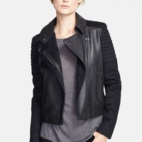 Women's Vince Quilted Contrast Leather Jacket