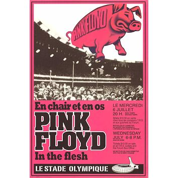 Pink Floyd In the Flesh Montreal Poster 24x36