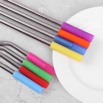 Universal Silicone Stainless Steel Straw Covers