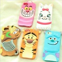 3D Cartoon Animal Monsters Sulley Tigger Marie/Alice Cat,slinky dog Silicon Phone Cases Cover For iPhone 7 4S 5 5S SE 6 6s Plus