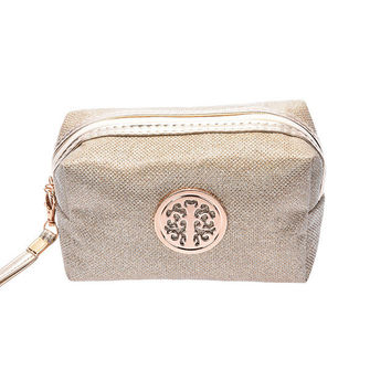 Cosmetic Travel Pouch Beige  11cmhigh,17cmlong,7cmwide