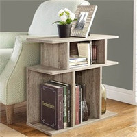 """Dark Taupe Reclaimed-Look 24""""H Accent Side Table - Monarch Specialty I-2476"""