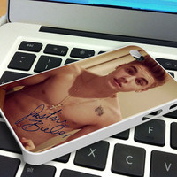 Justin Bieber Cool and Sexy with Signature iPhone 4 iPhone 4S Case