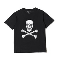 2018ss Vlone Skull Printed Women Men T shirts tee Hiphop High Street Clothing Kanye West Vlone Men Cotton T shirt