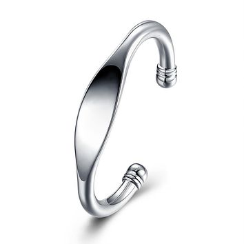 Saint Nazaire Bangle in 18K White Gold Plated