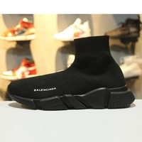 Balenciaga Speed Stretch Knit Low Slip-On All Black Socks Shoes - Best Online Sale