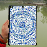 Blue Mandala Pattern iPad Case,Flora iPad mini Case,iPad Air Case,iPad 3 Case,iPad 4 Case,ipad case,ipad cover, ipad mini cover ipad air,iPad 2/3/4-108