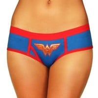 DC Comics Wonder Woman Blue Juniors Underwear Boy Brief Panty - Wonder Woman - | TV Store Online