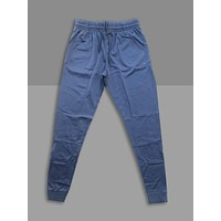 """""""Cool Grey"""" Cotton Poly Tapered Joggers"""