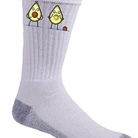 'Avocado Baby' Fruit & Seed Couple Humor - Crew Socks
