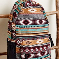Teal and Orange Jacquard Backpack