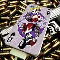 Playing Card Harley Quinn for iPhone 4/4s/5/5s/5c/6/6 Plus Case, Samsung Galaxy S3/S4/S5/Note 3/4 Case, iPod 4/5 Case, HtC One M7 M8 and Nexus Case ***