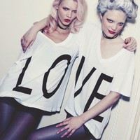Wildfox Couture + Ve - Oversize V Neck - Shop Now