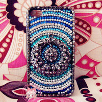 Handmade Unique iPhone Cases iPhone 5 Cases Bohemian Style iPhone 4 Case red beads turquoise iPhone 4s Case