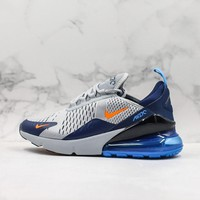 Nike Air Max 270 Grey Navy Running Shoes
